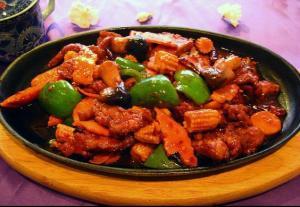 Hunan Three Delights from Friday night's Houe Of Ming dinner.