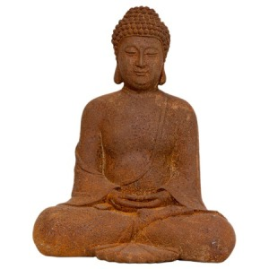 Mixed_ChinoiserieCollection2012-Sitting-Zenjo-Buddha-Statue-in-Patina