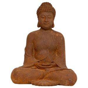 Mixed_ChinoiserieCollection2012-Sitting-Zenjo-Buddha-Statue-in-Patina