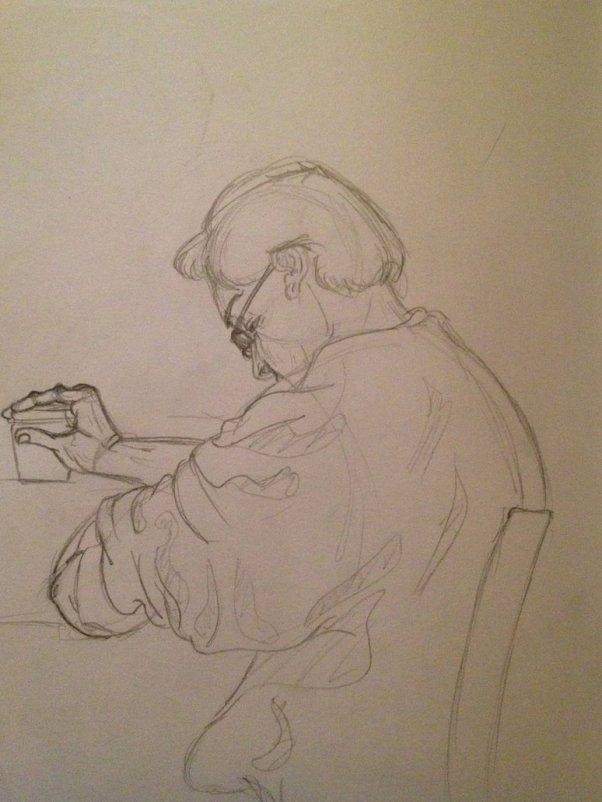 Art Credit: ~raded26 http://raded26.deviantart.com/art/old-man-in-coffee-shop-360699596