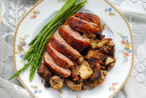 Roasted-Duck-with-Fig-Stuffing